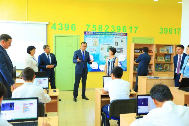 Школьников Алматинской области начинают обучать основам робототехники и современным языкам программирования.